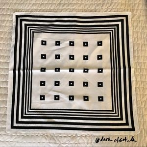 Vintage Black and White Square Scarf